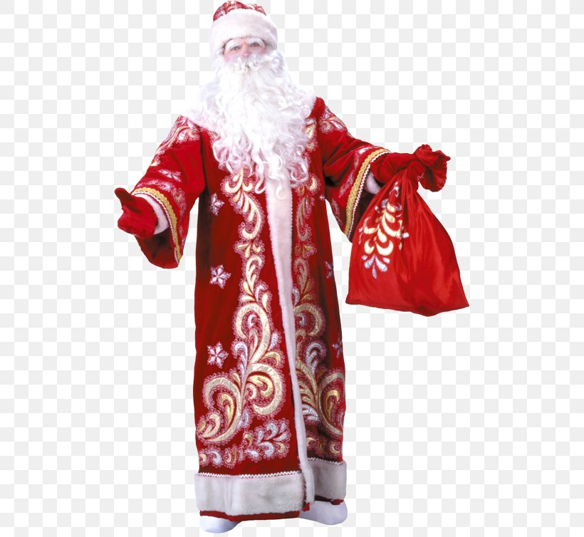 Ded Moroz Snegurochka Santa Claus Grandfather New Year, PNG, 500x754px, Ded Moroz, Child, Christmas Ornament, Costume, Fictional Character Download Free
