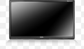 Television Top View - LED-backlit LCD Computer Monitors LCD Television Television Set Flat Panel Display PNG