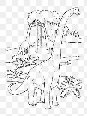 Dinosaur - Brachiosaurus Apatosaurus Colouring Pages Coloring Book Compsognathus PNG