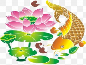 Fish Play Flower - Floral Design Flower Fish Clip Art PNG