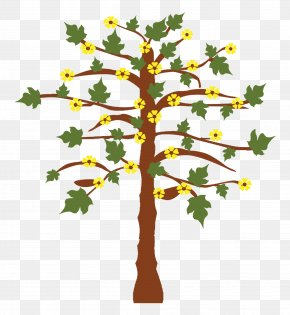 Tree - Twig Flower Illustration PNG