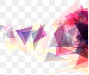 Pink Triangle Geometric Background - Geometry Triangle Geometric Shape PNG