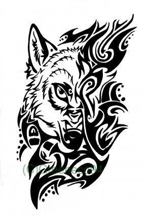 Heart With Banner Tattoo Designs - Gray Wolf Tattoo Artist Tribe PNG