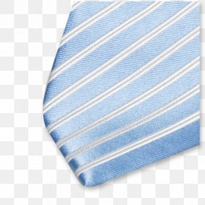 Necktie Light Blue Textile White PNG