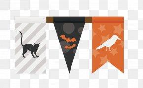 Vector Halloween Hanging Flags - Halloween Euclidean Vector PNG