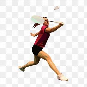 Vector People Playing Badminton - Badminton PNG