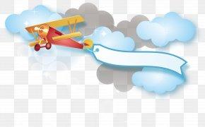 Red Plane Vector - Cartoon Wallpaper PNG