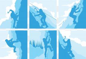 Climb Snow Mountain Material Collection - Rock Climbing Climbing Wall PNG