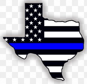 Usa Flag - Thin Blue Line Police Officer Law Enforcement PNG
