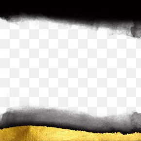 Ink And Gold Background Texture - Black And White Ink Wallpaper PNG
