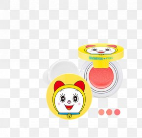 Doraemon Cartoon Beauty Blush - Cushion Doraemon Rouge Bolster Color PNG