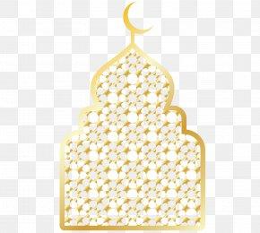 Golden Chancery Of Arabic Mosque - Mosque Arabic Eid Al-Fitr PNG