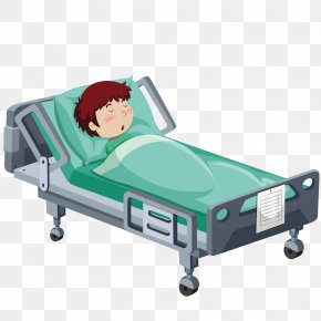 Vector Hospital Bed - Hospital Bed Patient Clip Art PNG