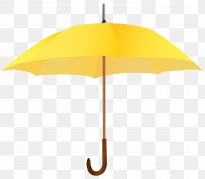 Yellow Umbrella Clipart Image - Yellow Angle Umbrella Design PNG