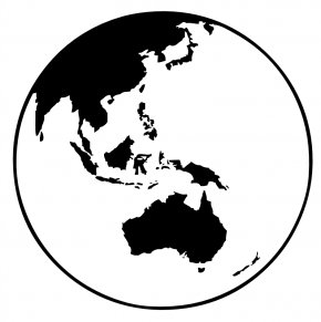 Black And White Earth - Earth Globe Black And White Clip Art PNG