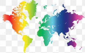 World Map - World Map Globe Poster PNG