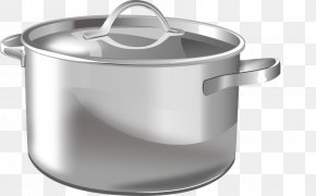 Stainless Steel Cooking Pot - Cookware And Bakeware Induction Cooking Crock Clip Art PNG