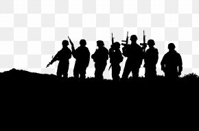 Soldier Silhouette Cliparts - United States Military Soldier Sticker Veteran PNG