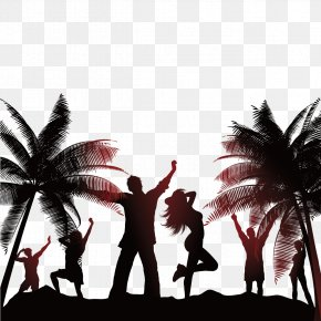 Beach Vacationers - Beach Party Stock Photography Illustration PNG