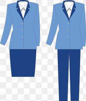 Blue Dress - Tuxedo Clothing Uniform Cotton Top PNG