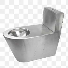 Toilet - Flush Toilet Plumbing Fixture Stainless Steel Sink PNG