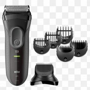 Razor - Hair Clipper Braun Series 3 Shave&Style 3010BT Braun Series 3 3050cc Electric Razors & Hair Trimmers PNG