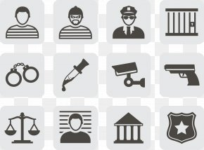 Police Criminal Justice Court Icon - Crime Court Icon PNG
