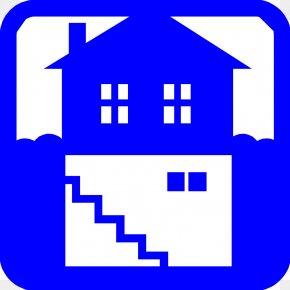 House Blue Cliparts - Basement House Clip Art PNG