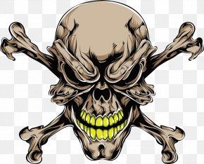 Vector Brown Skull Bones Prints - Human Skull Symbolism Tattoo PNG