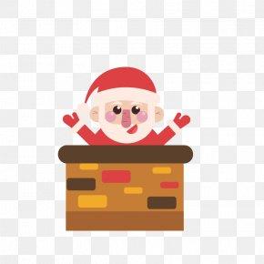 Santa's Chimney - Santa Claus Christmas Chimney PNG