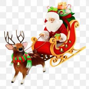 Cartoon Santa Claus Sleigh Ride Elk Gifts - Santa Claus Village Pxe8re Noxebl Ded Moroz Christmas PNG