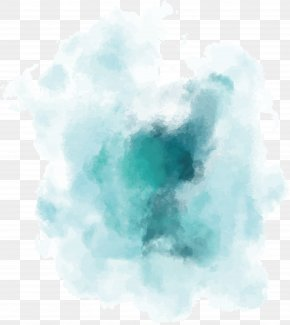 Green Gradient Watercolor Blooming - Watercolor Painting Euclidean Vector PNG