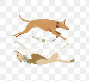 Vector Break Out Of The Chain Of Dogs - Cat Dog Leash Illustration PNG