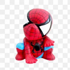 Spiderman Piggy Bank - Spider-Man Toy Piggy Bank PNG