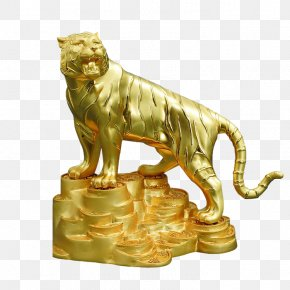 Tiger - Lion Tiger Sculpture Statue PNG