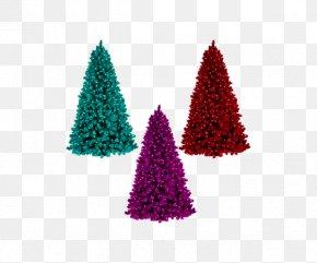 Three-color Christmas Tree - Santa Claus Christmas Tree Clip Art PNG