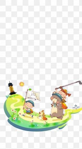 Children Spring - Picnic Cartoon Illustration PNG