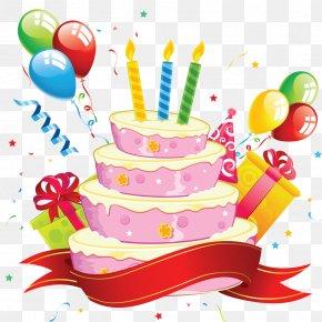 Happy Birthday - Birthday Cake Cupcake Clip Art PNG