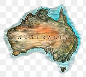 Retro Australia Map - Australia Map Icon PNG
