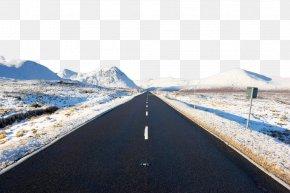 Snow Road - Rannoch Moor Scotland Highway Snow Road PNG