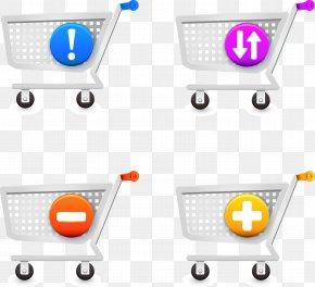 Vector Shopping Cart - Shopping Cart Online Shopping PNG