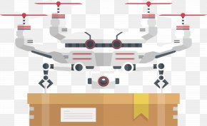 Technology Unmanned Aerial Vehicle Delivery - Unmanned Aerial Vehicle Logistics Phantom Uncrewed Vehicle PNG