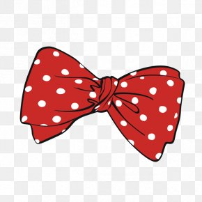 Red Polka Dot Bow - Bow Tie Polka Dot Red Shoelace Knot Shoelaces PNG