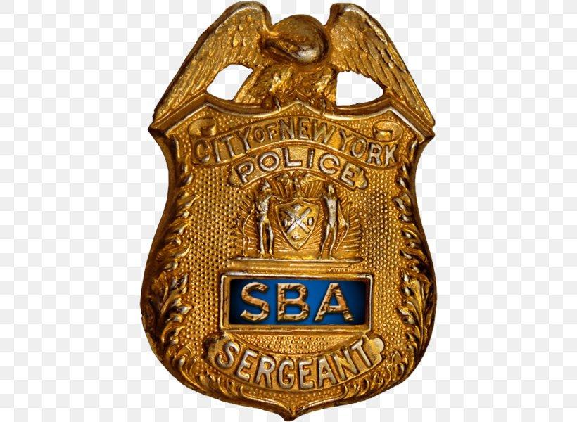 New York City Police Department Patrolmen's Benevolent Association Police Officer Sergeants Benevolent Association, PNG, 424x600px, Police, Badge, Brass, Gold, Law Download Free