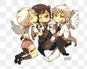 Angel And Demon - Homo Sapiens Legendary Creature Human Behavior Cartoon PNG