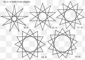 Triangle - String Art Complex Polygon Star Polygon Triangle PNG
