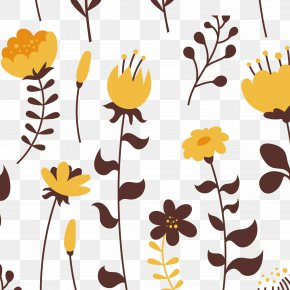 Yellow Flowers Vector Material - Floral Design Yellow Flower Euclidean Vector PNG