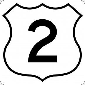 Number 2 - Number Highway Clip Art PNG