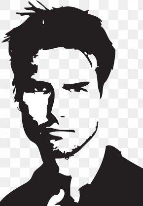 Tom Cruise - Tom Cruise Top Gun Silhouette Portrait PNG