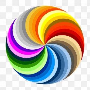 Swirl Picture - Pinwheel Color Wheel Rainbow Clip Art PNG